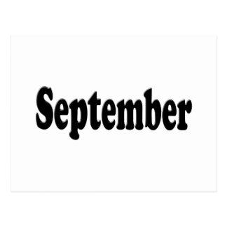 Black Text  September Postcard