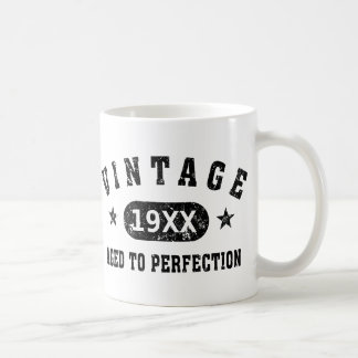 Black Text Vintage Aged to Perfection Mug