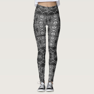 Black Textured Active Leggings