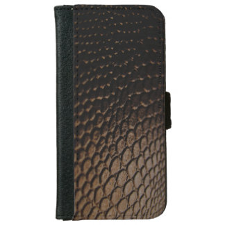 Black Textured Leather Look iPhone 6 Wallet Case