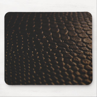 Black Textured  Leather Look Mouse Pad
