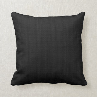Black Textured Throw Pillow