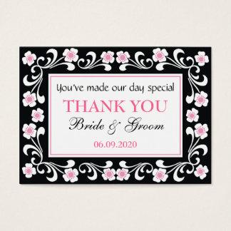 Black Thank You Wedding Favor Gift Tags