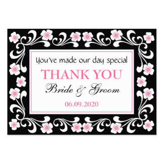 Black Thank You Wedding Favor Gift Tags Business Cards