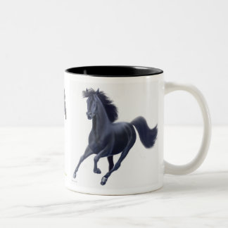 Black Thoroughbred Horses Mug