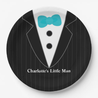 Black Tie Baby Shower Plates 9 Inch Paper Plate