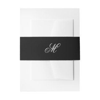 Black Tie | Black White | Belly Band Invitation Belly Band