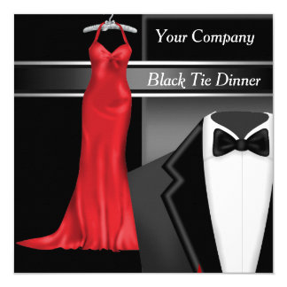 Black Tie Corporate Dinner Party Card