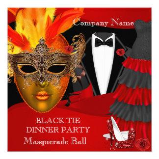 Black Tie Corporate Formal Masquerade Ball Personalized Invite