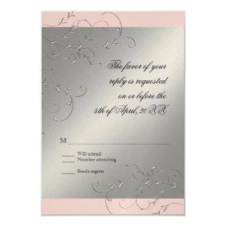 Black Tie Elegance, RSVP Response Card
