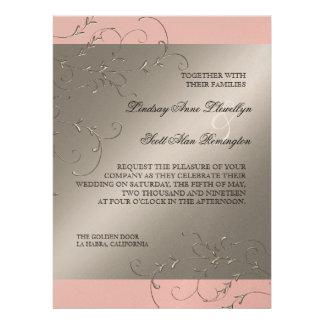 Black Tie Elegance Silver Wedding Invitations