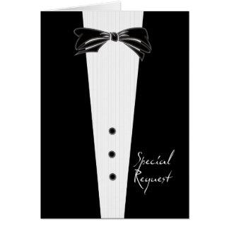 Black Tie Groomsman Card