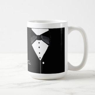 Black Tie Tuxedo Design Coffee Mug