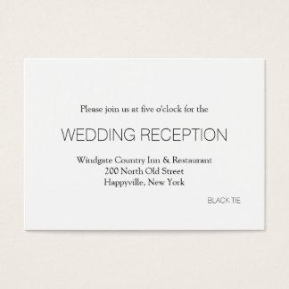 Black Tie Wedding Reception Enclosure Cards