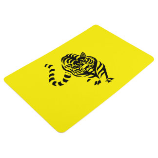 Black tiger floor mat
