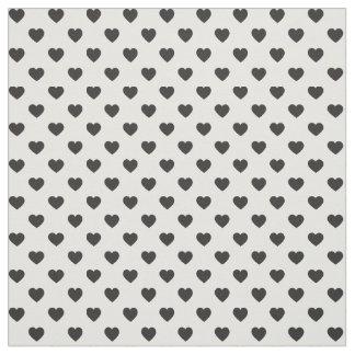 Black Tiny Heart Pattern Fabric