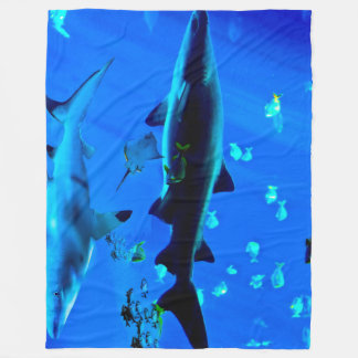 Black Tipped Shark Fleece Blanket