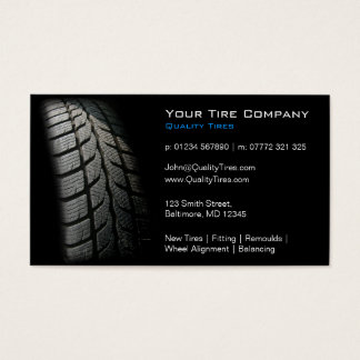 Black Tire Fitting Business Card