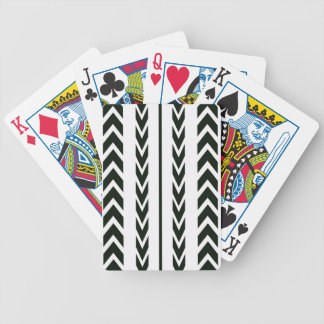 Black Tire Tread Bicycle Playing Cards