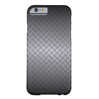 Black to Gray Diamondplate Steel Background Art Barely There iPhone 6 Case