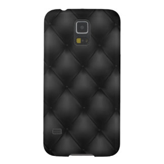 Black to leather skin case for galaxy s5