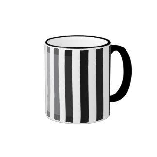 Black To White Shade Ringer Coffee Mug