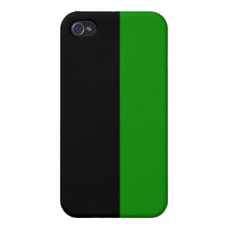 black top green bottom DIY custom background iPhone 4/4S Cases