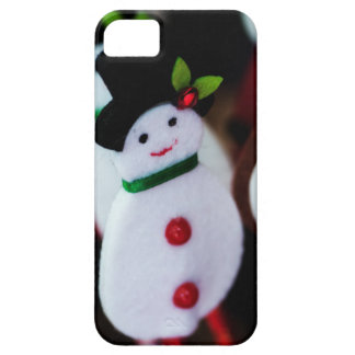 black top hat snowman with Cane, christmas card Case For The iPhone 5