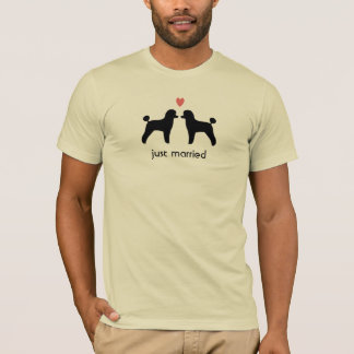 Black Toy Poodles with Heart and Text T-Shirt