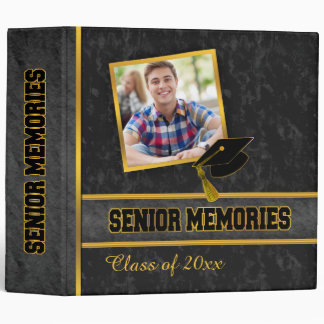 Black Traditional Photo Class Senior Memories Vinyl Binders
