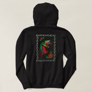 Black traditional snake hoodie