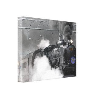 Black Train Canvas Prints