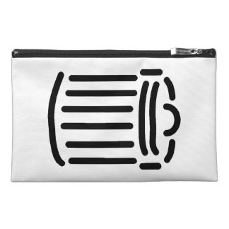 Black Trash Can Symbol Travel Accessories Bags