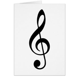 Black Treble Clef Card