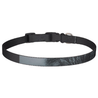 Black Tree against Gray Stormy Sky Pet Collar