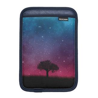 Black Tree Space Galaxy Cosmos Blue Pink Sky iPad Mini Sleeve