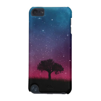 Black Tree Space Galaxy Cosmos Blue Pink Sky iPod Touch (5th Generation) Cases