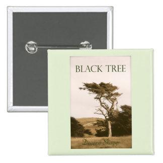 Black Tree Square Button