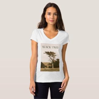 Black Tree Women's V-Neck T-Shirt