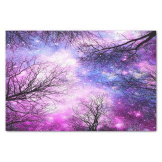 Black Trees Fuchsia Violet Space Tissue Paper