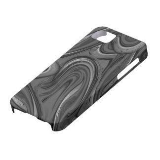 Black trendy marbled pattern iPhone 5 covers