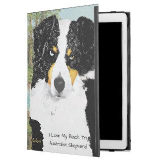 Black Tri Australian Shepherd Dog Portrait
