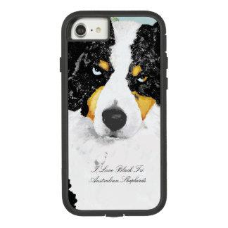 Black Tri Australian Shepherd Portrait Case-Mate Tough Extreme iPhone 8/7 Case