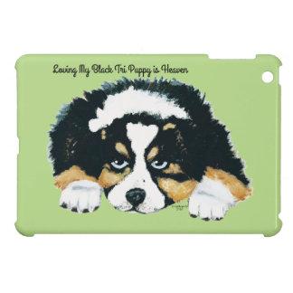 Black Tri Australian Shepherd Puppy Case For The iPad Mini