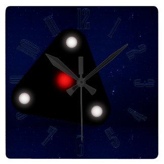 Black Triangle UFO Wall Clocks