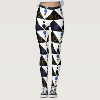 Black Triangles with Colors Leggings