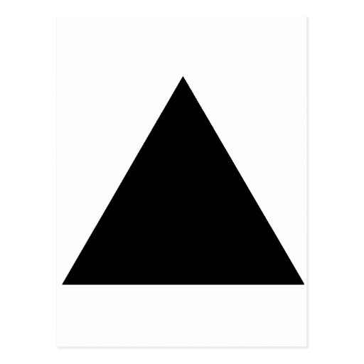 Black TriangleTrans The MUSEUM Zazzle Gifts Post Card
