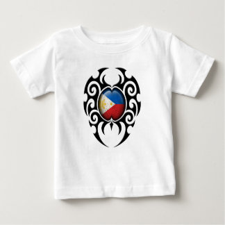 Black Tribal Cracked Filipino Flag Baby T-Shirt
