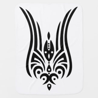 BLACK Tribal Tattoo - tulip + your ideas Swaddle Blankets
