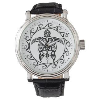 Black Tribal Turtle Watch